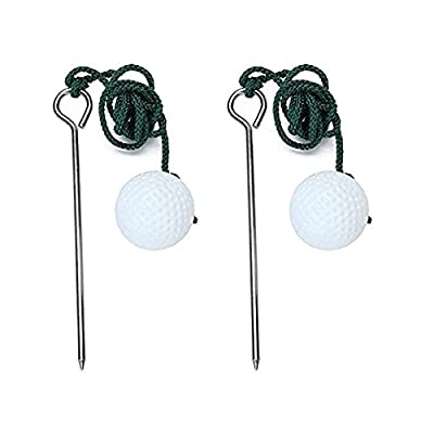 WINOMO 2pcs Golf Driving Range Ball Training Practice Help Accessories