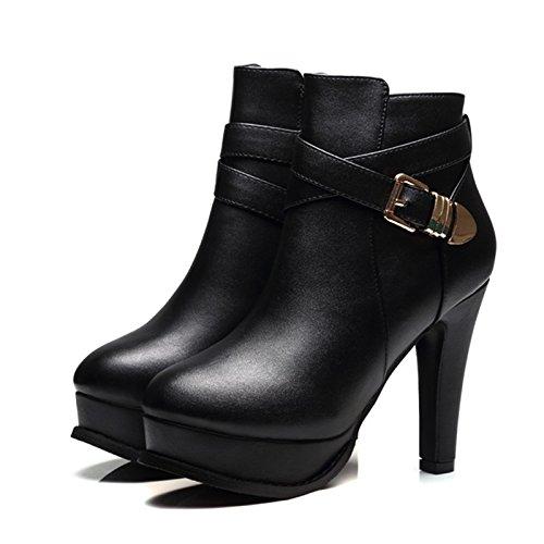 Alle Schuhe Im Wasserdicht Stiefel Mit Hochhackige Stiefel Einheitlichen Winter Mit Dicken Martin KHSKX black Stiefel x7q0wqRP