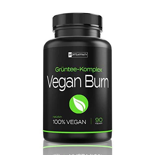 Vegan Burn [Beliebt in der Diät] – Hochdosiert von Experten für Frauen und Männer » mit L-Carnitin, Grüntee Extrakt « F…