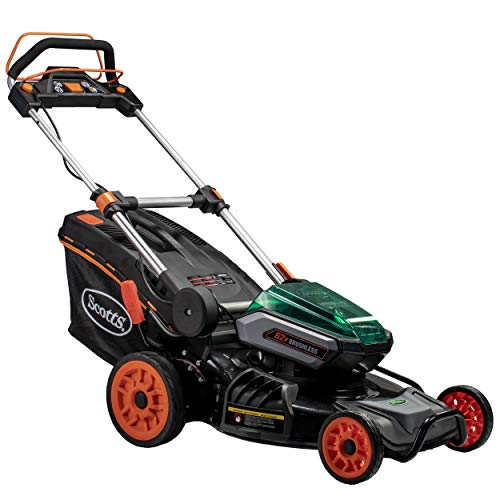 Scotts Outdoor Power Tools 60362S 21-Inch 62-Volt Cordless Self-Propelled Lawn Mower, LED Lights, 4Ah & 2.5Ah Batteries, (1) Batteries & Charger ()