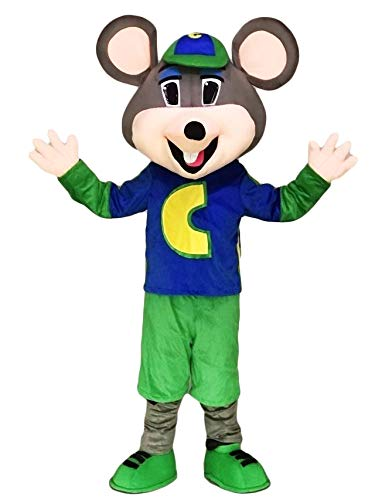rushopn Chuck E. Cheese Mascot Costume Adult Mouse -