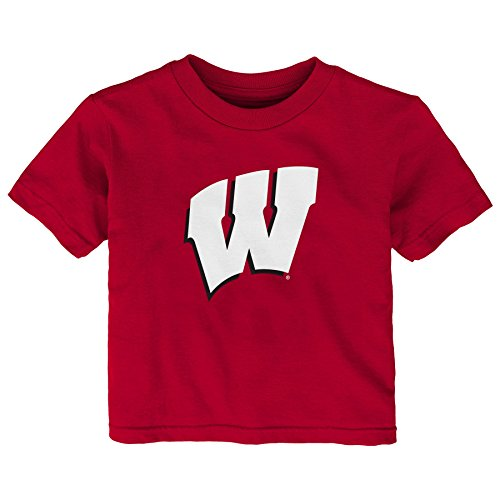 Gen 2 NCAA Wisconsin Badgers Infant Primary Logo Short Sleeve Tee, 18 Months, Dark Red