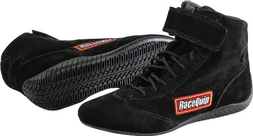 Racer Shoes Racing (RaceQuip 30300090 Size 9 Black SFI 3.3/5 Race Shoe)