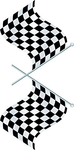 Design with Vinyl Top Selling Decals - Prices Reduced : Auto & Motorcycle Racing Flag NASCAR Black/White Checkered Race Car Championship Winner Boy Kids Wall Sticker Size : 12 Inches X 24 Inches