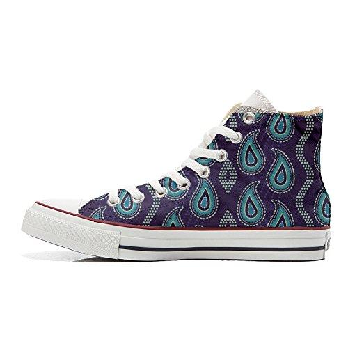 Paisley Personalisierte Purple Converse handwerk Custom Produkt Schuhe Cyw6UBO5q