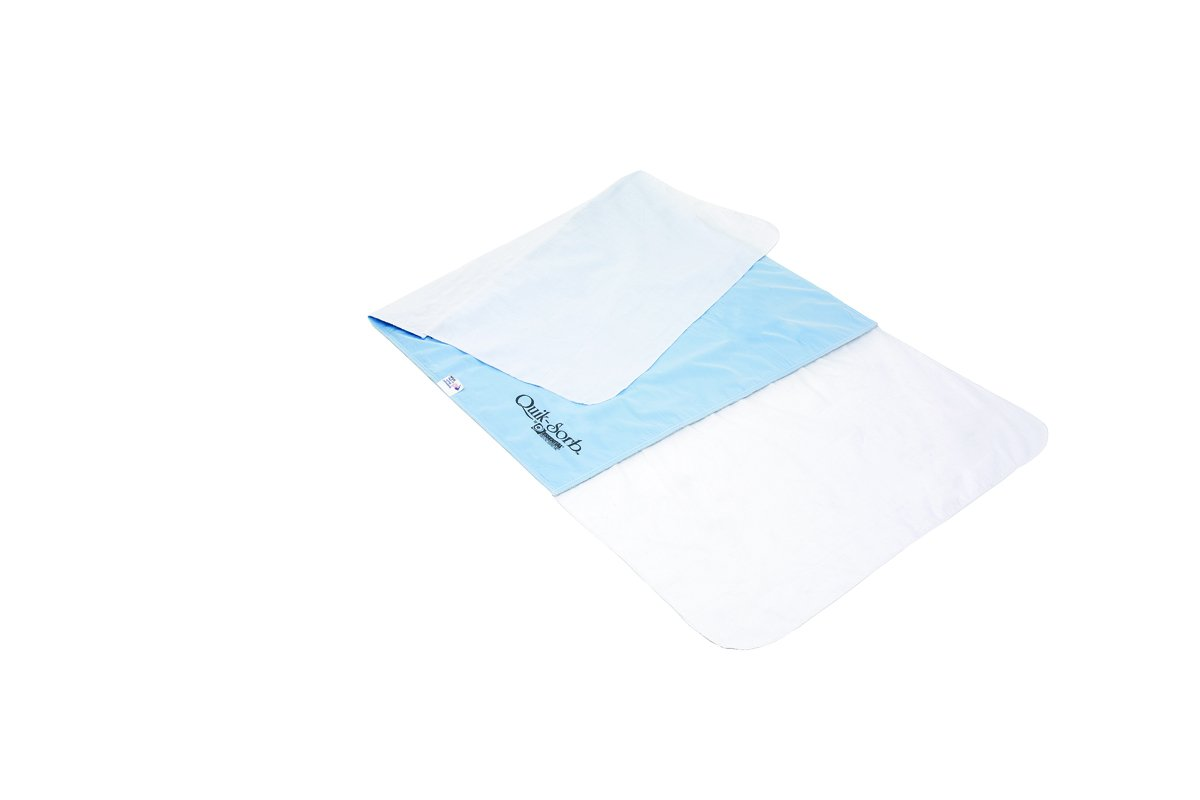 Essential Medical Supply Quik Sorb Deluxe Reusable Underpad with 18 inch Tucks, 36 inch X 36 inch, 12 Count
