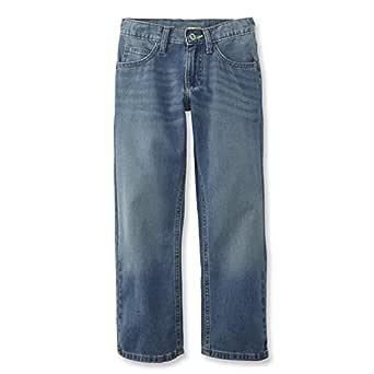LEE Boys' Straight Leg Performance Strecth Jeans (Light Wash, 10)