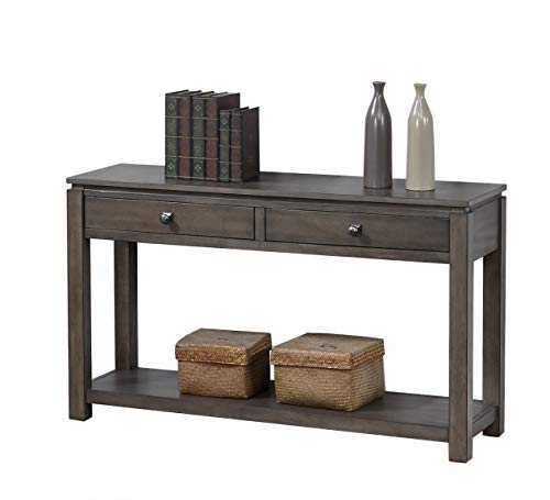 - Sunset Trading DLU-EL1604 Shades of Gray Console Table, Weathered Grey