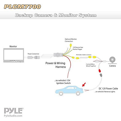 pyle backup camera wiring diagram 7500 pyle plcm7700 vehicle car van jeep rear view backup camera ... camaro backup camera wiring diagram