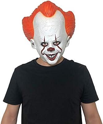 yacn Halloween Evil Scary Clown Mask It Disfraz para Hombre ...