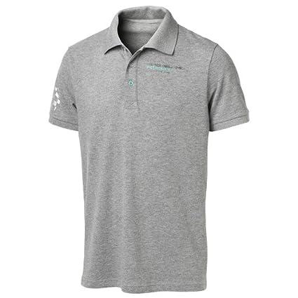 Mercedes AMG Petronas Mens Polo Shirt Camiseta, Hombre, Gris, M ...