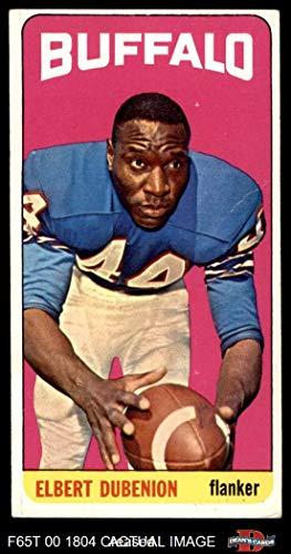 1965 Topps # 28 Elbert Dubenion Buffalo Bills (Football Card) Dean's Cards 3 - VG Bills
