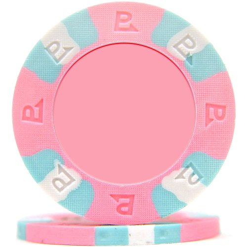 Spot Nexgen Clay Poker Chip - Trademark Poker NexGEN 6002 Series PRO Classic Style Poker Chips (Set of 50), 9gm, Pink
