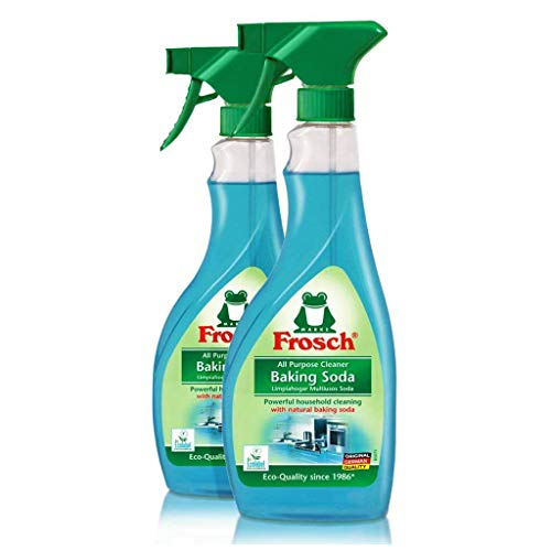Frosch Natural Baking Soda Multi-Surface All Purpose Cleaner Spray, 16.9 fl oz (Pack of 2)