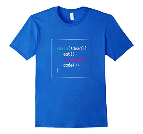Mens Funny Programmer T-Shirt Computer Nerd Geek Tech Humor Gift Medium Royal Blue