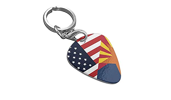 Arizona State Flag Guitar Pick Necklace Pendant Pet Card Keychain