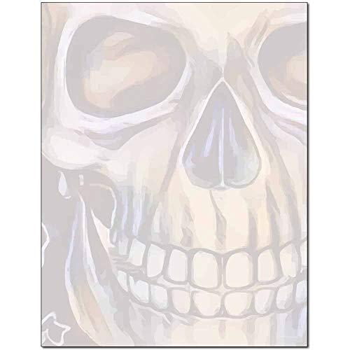 Grinning Skull Halloween Letterhead Laser & Inkjet Printer Paper (100 Pack) -