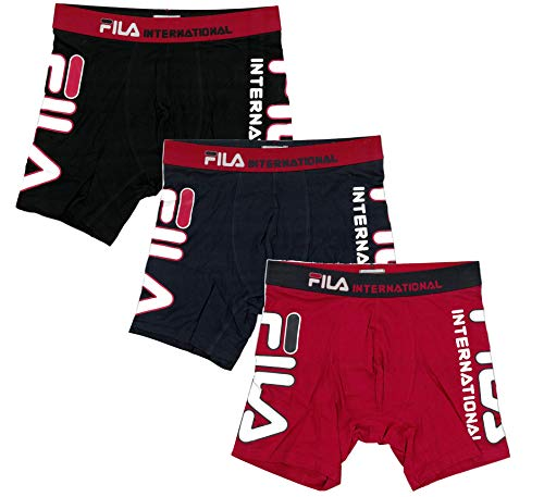 "Fila Men's 6"" No Fly Boxer Brief with Built in Pouch Support (3-Pack of Briefs)"