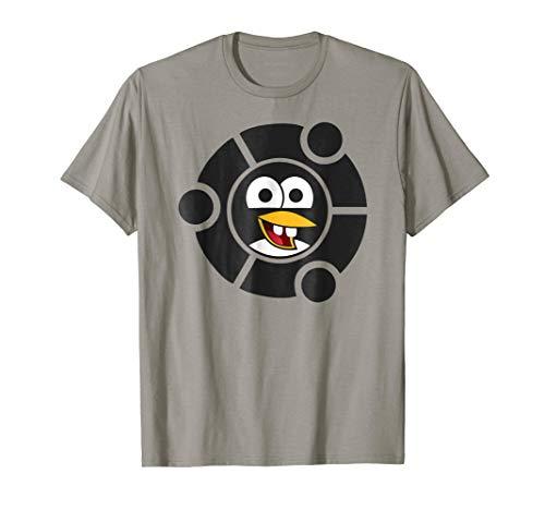 Linux Penguin Nerdy Emoji Inside the Ubuntu Frame T-Shirt