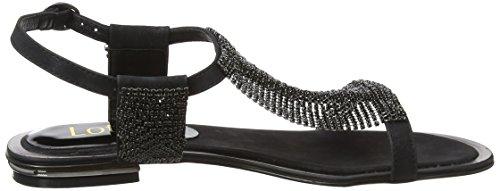 Open Lotus Diamante Agnetha Heels Women's Black Toe Black x11nEp