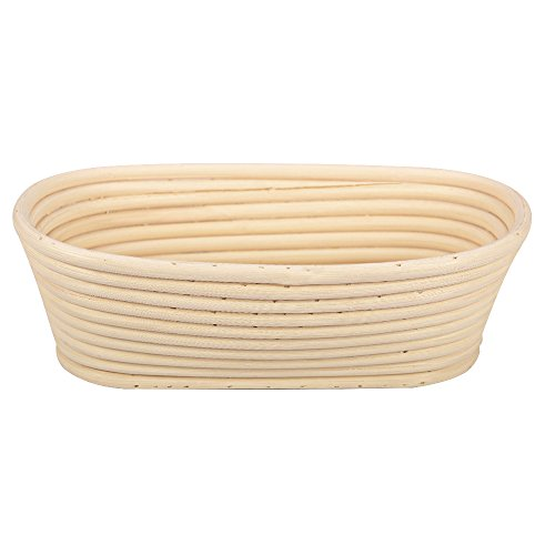 "Proofing Basket Set by Haneye, 10"" Oval Banneton Basket with Liner, Bread Dough Rising Basket for Professional Home Bakers, Proving Basket, Bread Brotform Basket"