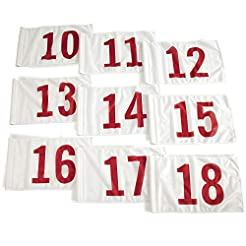 Vispronet 20in x 14in Numbered Golf Flag...