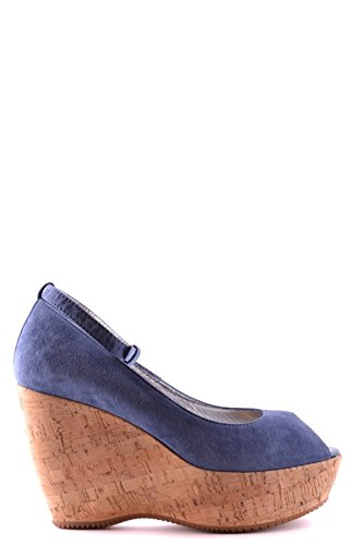 Hogan Ladies Mcbi148055o Zeppe In Camoscio Blu
