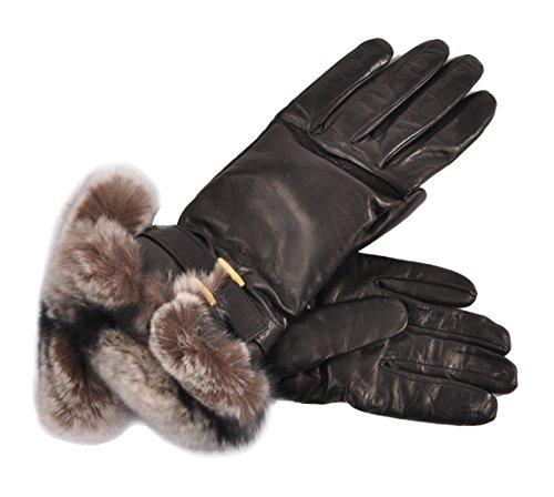 (Women's Fur Lined Italian Lambskin Dress Gloves -)