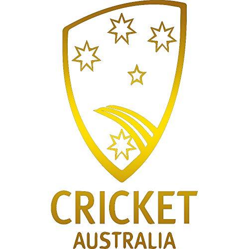 NBFU DECALS Cricket Australia Logo 1 (Metallic Gold) (Set of 2) Premium Waterproof Vinyl Decal Stickers for Laptop Phone Accessory Helmet CAR Window Bumper Mug Tuber Cup Door Wall Decoration