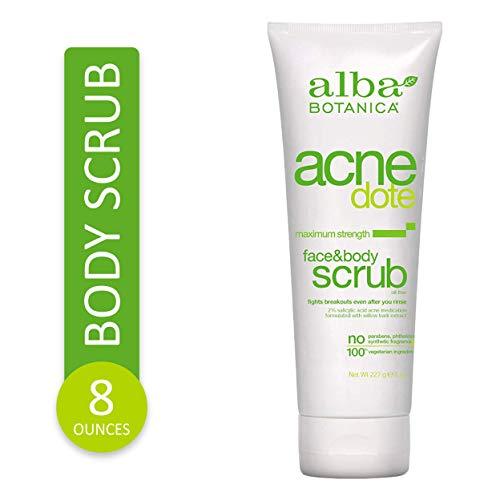 Alba Botanica Acnedote Maximum Strength Face & Body Scrub, 8 oz.