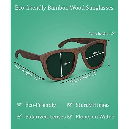52abb07c07 PREMIUM Polarized Bamboo Wood Sunglasses For Men   Women Featuring 10 LAYERED  Lens