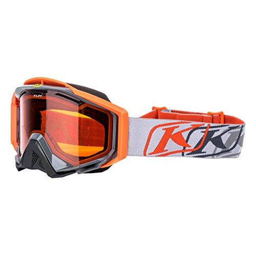Klim Radius Pro Adult Snow Snowmobile Goggles Eyewear - K Corp Gray / DBL Orange Tint / One Size