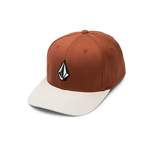 - Volcom Men's Full Stone Flexfit Stretch Hat, Vine Red, Small/Medium