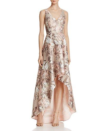 Aidan Mattox Women's Sleeveless High-Low Floral Gown 6 Blush Multi