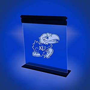 KANSAS JAYHAWKS ACRYLIC LED LIGHT DISPLAY MAN CAVE OFFICE