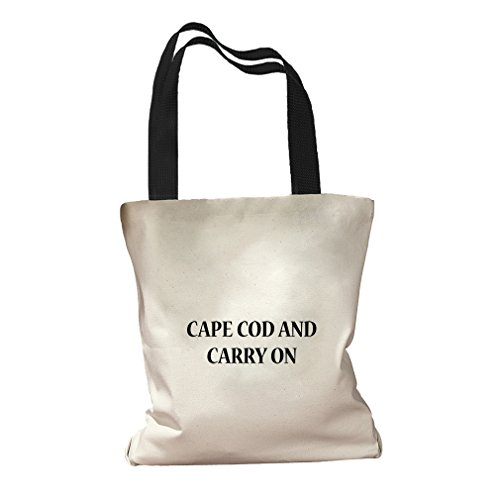 Cape Cod And Carry On Canvas Colored Handles Tote Bag - - Cape Centers Cod Shopping