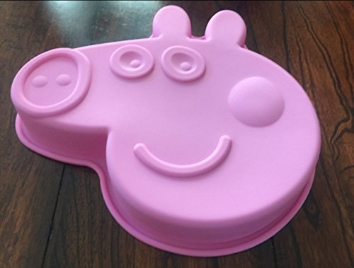 Peppa Pig Silicone Birthday Cake Pan Chocolate Candy Mold