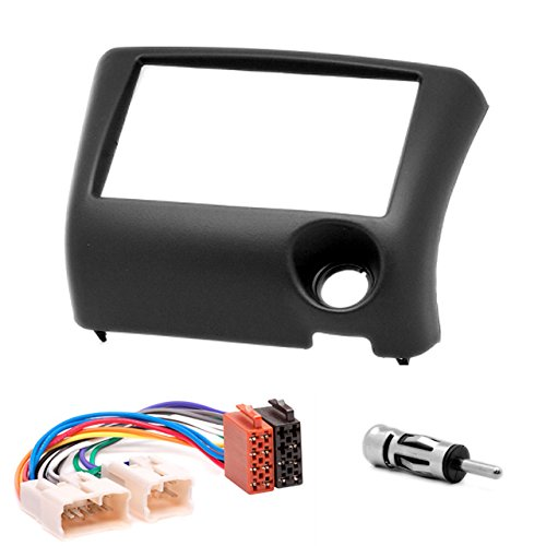 CARAV 11-193-22-6 Radioblende Car 2-DIN in Dash Installation kit Set for Yaris Echo 1999-2005 ISO and Antenna Adapter Cable