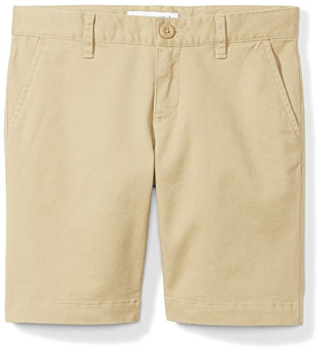 Amazon Essentials Big Girls' Uniform Short, Khaki, 8