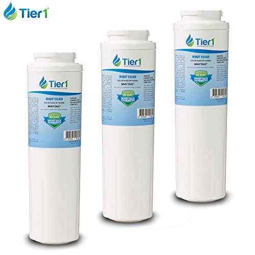 3 Pack Tier1 Maytag UKF8001, EDR4RXD1, PUR, Jenn-Air, Whirlpool 4396395, Puriclean II, 469006, 469005, UKF8001AXX, UKF8001AXX200 Replacement Refrigerator Water Filter