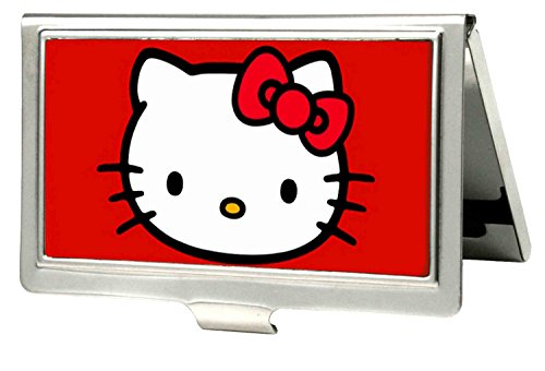 Hello Kitty Animated Character Classic Head Logo Business Card Holder (Female Cartoon Characters Names)