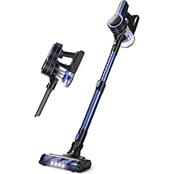 APOSEN Cordless Vacuum Cleaner 18KPa Powerful Suction 250W Brushless Motor 4 in 1 Stick Handheld Vacuum for Home Hard Floor Carpet Car Pet H250 Blue
