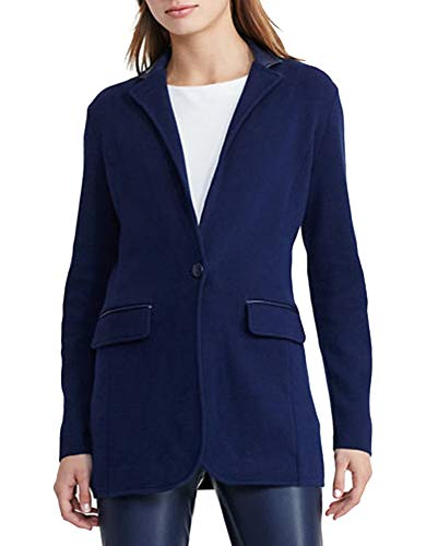 Lauren Ralph Lauren Petite Single-Button Sweater Jacket (Navy, ()