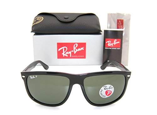New Authentic Ray-Ban RB 4147 601/58 60mm Black Frame / Green Polarized - Wayfarer Ban Boyfriend Polarized Ray