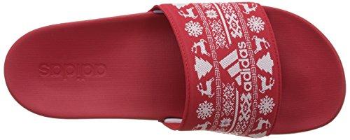 Adidas Adilette Cf Xmas - Bb4547 Blanc-rouge