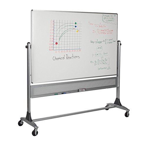 Mobile Porcelain Markerboard Natural Cork Platinum Reversible Board 4'H x 8'W electronic consumers