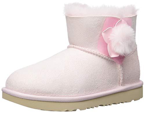 UGG Girls' K Mini Bailey II Cactus Flower Fashion Boot, Seashell Pink 4 M US Big Kid