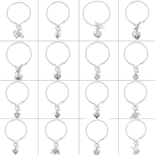 Set Pearl Oval - HENGSHENG 16 PCS Bracelet Sets Pearl Oyster Fitting with 1 PC Real Oval Pearl in Pendant