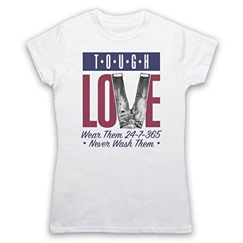 Tough Love Denim Jeans Camiseta para Mujer Blanco