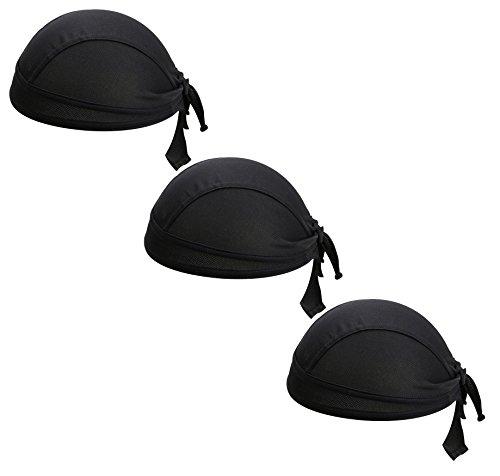 TESOON Motorcycle Biker Windproof Cycling Sweatband Protex Outdoor Head Wraps (3Colorblack) (Cap Skull Wrap)